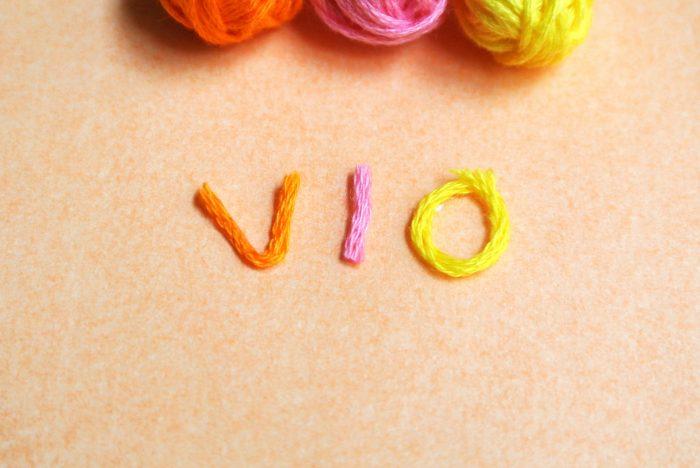 毛糸で出来たVIOの画像
